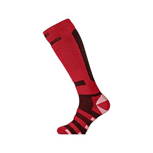 Nessi Chaussettes de ski/snowboard respirantes Mixte Rouge rotschwarz 44-46