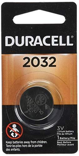 Duracell CR2032 Pila de botón de litio de 3 V, batería de larga duración, 1 unidad