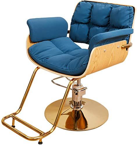 Friseurstuhl, 360 ° Selection Beauty Style Classic Hydraulic Friseur Stuhl Professionelle Stylingstuhl Salon Schönheitsausrüstung, höhenverstellbar (Color : Natural)