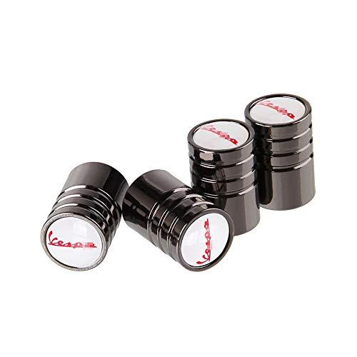 LOPLP Tapas de vástago de válvula de neumático de Rueda de Coche de Metal para Vespa Piaggio Px 125 LX 50150 180ss Piaggio Beverly GTS 300 Scooter Primavera, Tapas de Aire de válvula, 4 Piezas