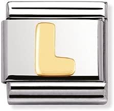 Composable Classic acciaio oro 18k Lettera L - Cod. Art.: 030101_12