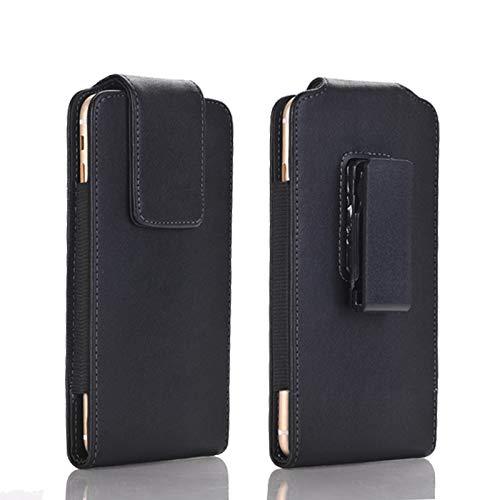 Funda de cuero premium para cinturón con clip para iPhone 11 Pro, Xs, 12, 12 Pro, funda para teléfono móvil, cierre magnético