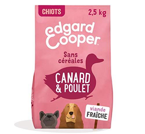 Edgard & Cooper Croquettes Chiot Chien Junior sans Cereales Nourriture Naturelle 2.5kg Canard et Poulet Frais, Alimentation Saine savoureuse et équilibrée, Protéines de qualité supérieure
