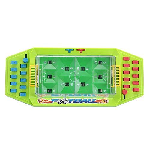 Juguete de fútbol de Mesa, Futbolin Foosball Juguete de fútbol Interactivo para Escritorio, Juego de Dos Jugadores de fútbol para los niños de los niños(Green)