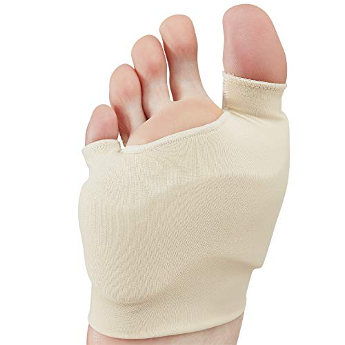 NatraCure Dual Bunion Gel Sleeve w/Forefoot Cushion (One Piece) Size: Large/X-Large - (1299-MC CAT) - for Relief from Pressure, Friction, Tailor & Hallux Valgus Pain