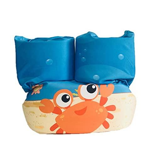 GWN Dibujos Animados Niños pequeños Brazo de natación Chaleco Salvavidas Flotabilidad Circular Cangrejo Naranja Longitud: 86 cm