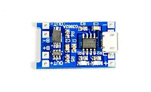 MissBirdler lipo Lion Akku Lademodul mit Schutz TP4056 Arduino, Solar Charger Raspberry Pi
