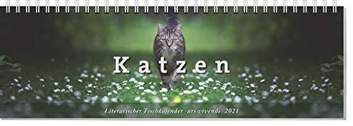 Tischkalender Katzen 2021: Terminplaner mit Fotografien und Zitaten - Kalender Katzen 2021