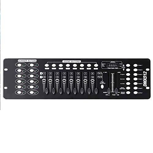 Skyeep Atenuación Controlador Dmx512 Consola DMX Control de Luces de Disco con Efectos DJ 192 Canales para la Luz de Escenario Fiesta San Valentín DJ Disco Bar 17.8 * 48.2 * 7.3cm Destello