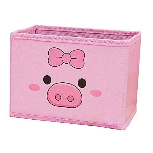 Parshall Caja de almacenamiento PU Pink Sundries Clasificación Caja de almacenamiento A prueba de humedad ligero portátil gran capcity para organizar el cerdo de mariposa