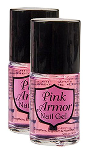 Set of 2 Pink Armor Nail Growth Formula Treatments, 0.45 Fluid Ounce