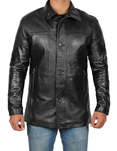 BlingSoul Black Winter Leather Jackets for Men - Mens Leather Coat | [1500144] Bristol Black - L
