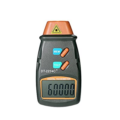 KKmoon Digital Photo Tachometer Handheld Non-Contact Tach Range 2.5RPM-99,999RPM LCD Display Motor Speed Meter with 3pcs Reflective Tape