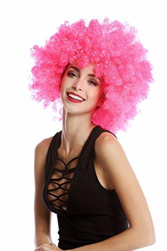 WIG ME UP ® - PW0011-PC5 Perücke Afroperücke Afro 70er Jahre Party Partyperücke Funk Funky Disco Foxy Rosa Pink