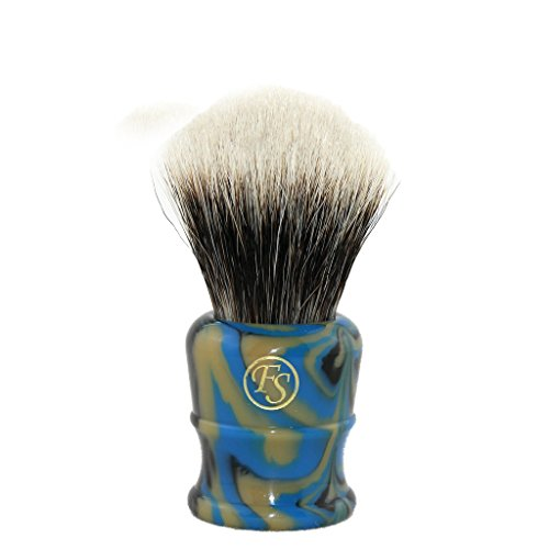 2 Band Finest Badger Hair Shaving Brush Faux Lapis Color Chubby Handle …