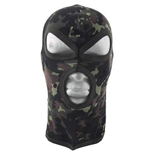 MFH 3-Loch Balaclava Dünn Baumwolle Sturmhaube Maske Skimaske Sturmmaske viele Farben (Flecktarn)