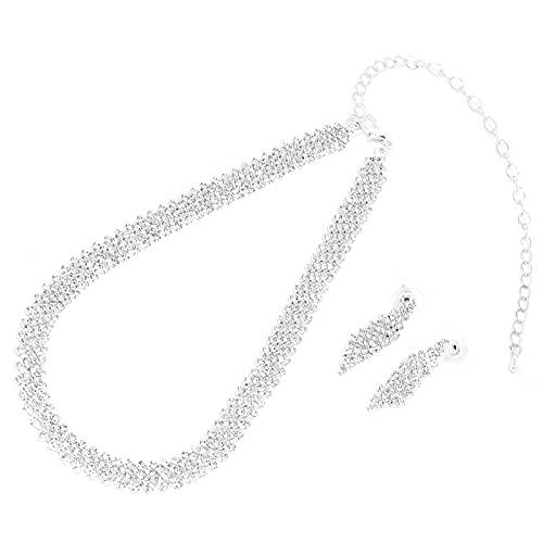 Conjunto De Pulsera Con Pendiente, Decoración De Diamantes De Imitación Portátil, Diseño Profesional De Diamantes De Imitación, Pendientes, Joyería Para Mujeres, Niñas, Para Fiestas, Para