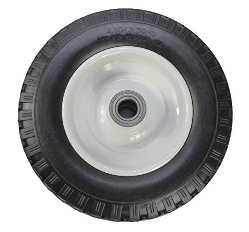 MaxxHaul 50502 12' Flat Free Solid Polyurethane All-Purpose Replacement Tire for Trailer Dollies Hand Trucks, Garden Carts, Black