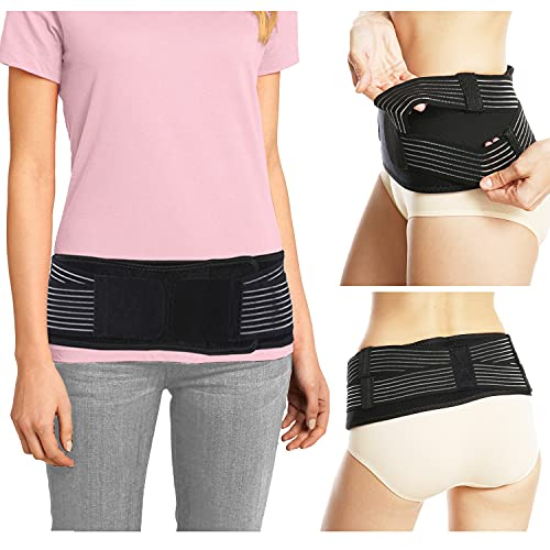 GJKJ Sacroiliac Si Hip Belt - Immediate Relief for Sciatica, Pelvic, Lower Back, Lumbar and Leg Pain. Si Joint Support for Women and Men. Anti-Slip Sciatic Nerve Hip Brace Support