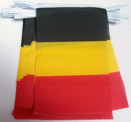 AZ FLAG Guirlande 6 mètres 20 Drapeaux Belgique 21x15 cm - Drapeau Belge 15 x 21 cm