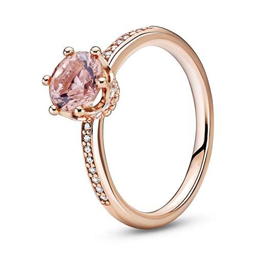 Pandora Ring Crown Rose Kristall und Zirkonia Größe: 52 188289C01-52 Roségold