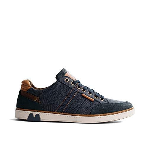 NoGRZ B.Fuller Herren Leder Sneakers | Blau EU 46
