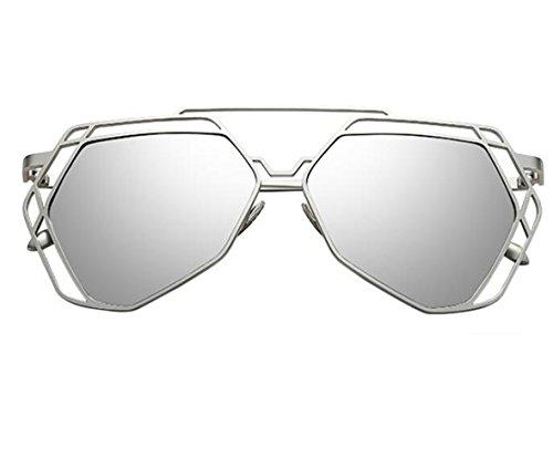 GAFAS DE SOL Las Nuevas Gafas De Sol, Crema Solar Gran Cuadro De Película En Color De Los Ojos, Caja De Plata/Película Reflectante