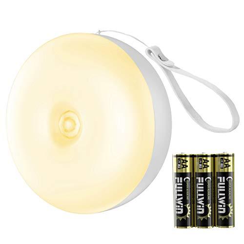 センサーライト 人感センサーライト 電池式センサーライト LEDライト光センサー 両面テープ マグネット付き 自動ON/OFF (暖かい光 電池式)