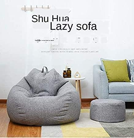 LDDO Washable Bean Bag Cover Snugly Gamer Chair Adults Kids Home Decor Soft Comfy Seat Sofa Couch Cover Lazy Lounger Chair Sofa Cover