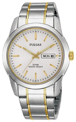 Pulsar Quarz Herren-Uhr Edelstahl mit Metallband PJ6023X1