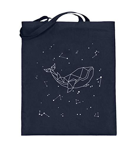 Generisch Sternbild Wal Sternzeichen Jutebeutel | Meerestier Sterne Galaxie Baumwolltasche