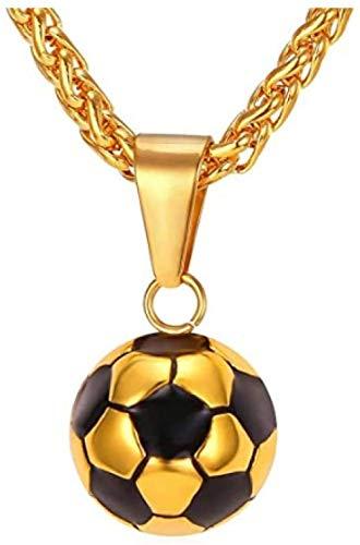 NC83 Hombres Mujeres Fútbol / Baloncesto / Rugby / Collar de raqueta de tenis Acero inoxidable / Cadena chapada y colgante Atleta Deporte Fan Regalo Joyería