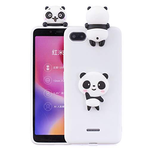 Capa Xiaomi Redmi 6A, linda capa de silicone para Xiaomi Redmi 6A Pop Push Fashion Cases - Panda White