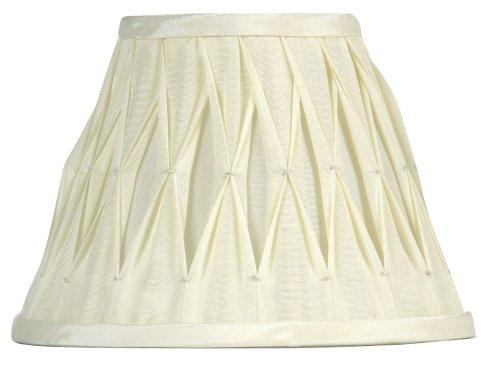 Oaks Lighting Abat-jour plissé en imitation soie Ivoire