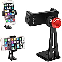 Ruittos Phone Holder for Tripod, Metal Cellphone Tripod Adapter 360 Degree Rotation Vertical Video Smartphone Bracket Clip Compatible with iPhone X XS XR 8 Samsung Galaxy S10 S9+ Huawei (Black C18)