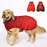 SEICIPET Winter Coats for Dogs with Bag,Thickened Dog Clothes Reflective Windproof Waterproof Design Dog Cold Life Jacket Fleece Vest Apparel for Small Medium Large Pet