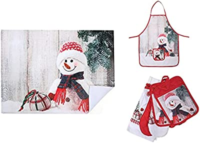 Snowman Kitchen Linen Set