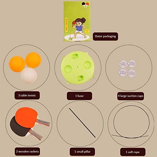 XFZDP Aparato de Entrenamiento portátil Mesa de Ping Pong Mesa de Ping Pong Trainer Soft Eje Elasticidad