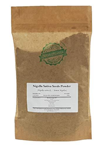 Herba Organica Zwarte Komijn Zaden Poeder - Nigella Sativa L / Nigella Sativa Seeds Powder (200g)