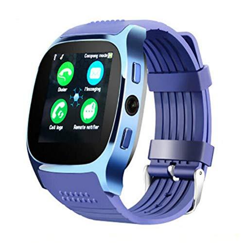 AEF 1.54 Pulgadas Smartwatch, Reloj Inteligente Impermeable IP68 para Hombre Mujer Niños, Pulsera De Actividad Inteligente con Monitor De Sueño Contador De Caloría Pulsómetros Podómetro,Azul