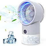 Portable Air Conditioner Fan, Zttopo Personal Mini Evaporative Air Cooler with 7 Colors Night Light, 3 Speeds, Super Quiet Desk Fan Mini Air Cooler for Small Room Bedroom Home Office