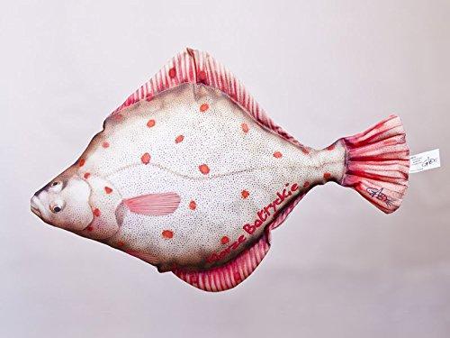 Gaby Kissen Fisch Die Flunder 41 cm Kuschelfische Kuscheltie Kopfkissen Plüschtier