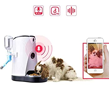 Durable Distributeur de Croquettes pour Chats et Chiens Distributeur Automatique de Nourriture Enregistrement Vocal, Distributeur Automatique de Nourriture Distributeur de Croquettes Facile à nettoyer