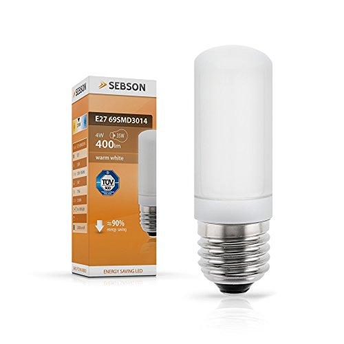 SEBSON® E27 LED 4W Lampe - vgl. 40W Glühlampe - 400 Lumen - E27 LED warmweiß - LED Leuchtmittel 160°