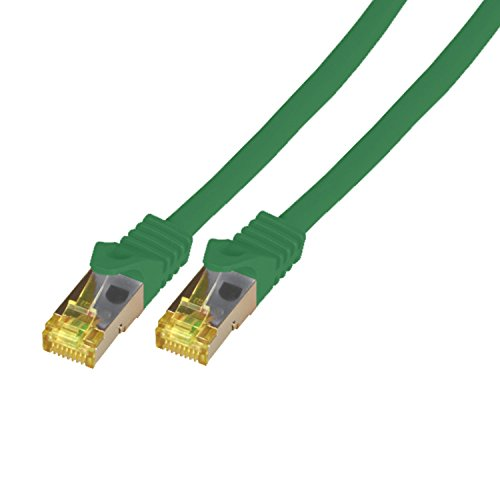 BIGtec 15m Netzwerkkabel Patchkabel CAT7 Ethernet LAN DSL Patch Kabel Gigabit grun 2X RJ 45 Anschlus doppelt geschirmtSFTP 15 Meter