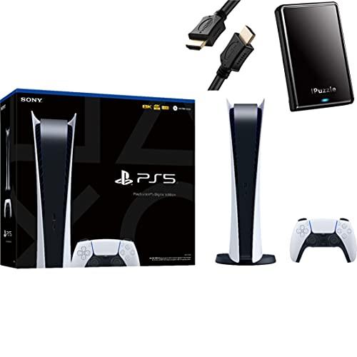 PS5 - Sony PlayStation 5 Digital Edition Gaming Console - x86-64-AMD Ryzen Zen 8 Cores, 16GB GDDR6, 825GB SSD, 120Hz...