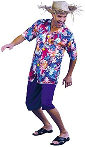 sin mínimo Value Costume Costume Costume  Tourist Hawaiian Shirt Man (Adult) by fancy dress warehouse  ahorra hasta un 70%