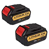 <span class='highlight'><span class='highlight'>FLYLINKTECH</span></span> 2Pack 5.0Ah 20V MAX XR Li-ion Replacement Battery for Dewalt DCB200 DCB180 DCB181 DCB182 DCB184 DCB201 for Dewalt 18V Batteries
