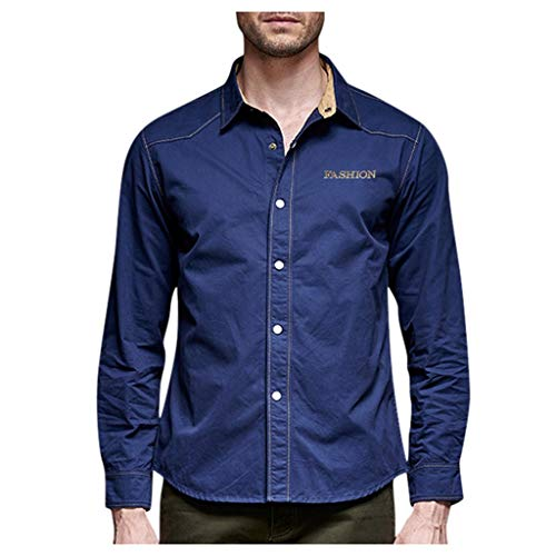 Save %64 Now! Letdown_Men Hoodies Men Solid Casual Outdoor Long Sleeve Button Down Turn-Down Collar ...