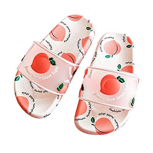 YXCKG Sandalias Zapatos Al Aire Libre, Zapatillas De Frutas para Niños Niñas, Zapatos De Agua De Verano, Zapatillas Antideslizantes para La Ducha Zapatillas De Piscina De Secado Rápido